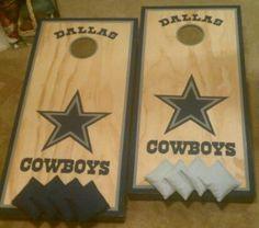 Dallas Cowboys cornhole boards www.facebook.com/skatoolicornhole