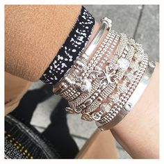 Wear a wrist full of ANNIE HAAK and team it with a brown coat for this stunning look.