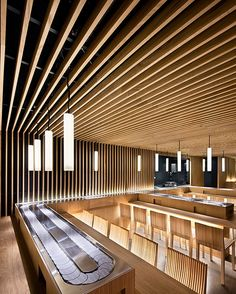 Matsuri Restaurant by Moreau Kusunok Architects.