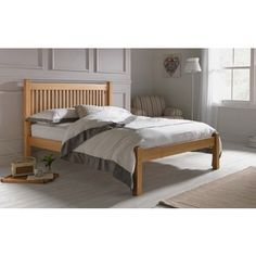 Avebury Double Bed Frame - Oak Stain.
