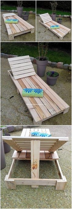 This awesome creation of wood pallet sun lounger that is accessible in the low bottom height levels so that it would be convenient for you to approach it while sitting on it. It has been featured with the storage friendly and you can purposely make it locate at the swimming pool areas.