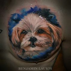 Dog portrait by Benjamin  Laukis #InkedMagazine #portrait #dog #puppy #pet #ink…