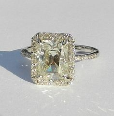 IGI Certified 3.67 Carat Diamond Engagement Ring by bluefirejewelry