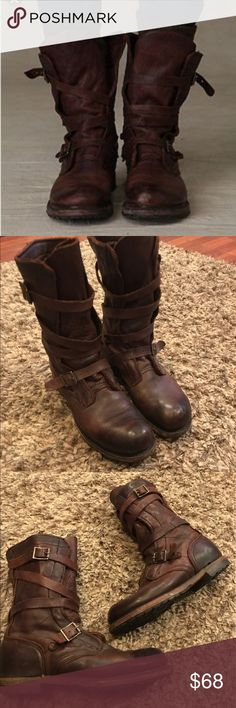 Vintage Shoe Co. Jennifer Tanker Boots Vintage JenniferTanker boot in good condition light wear on sole and leather. Super cute boots  Harness leather upper Leather lining Rubber lug and leather sole Made in U.S.A Collection Brand: Vintage Style: Jennifer Tanker Boot Style #: VS2702 Vintage  Shoes Combat & Moto Boots