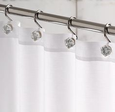Love This Just Take A Curtain Rod And Put Shower Curtain Hooks And Place Your Jewelry I D