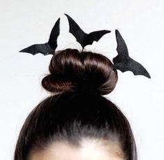 Bat hair for Batwoman or just an easy DYI halloween idea!