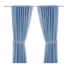 For the nursery, in blue or brown? Would the blue go ok with a brown and rust valence? (RITVA Curtains with tie-backs, 1 pair - cm, light blue - IKEA) Light Blue Curtains, White Curtains, Hanging Curtains, Curtains With Blinds, Window Curtains, Curtain Length, Ikea Bedroom, Master Bedroom, Cotton Curtains