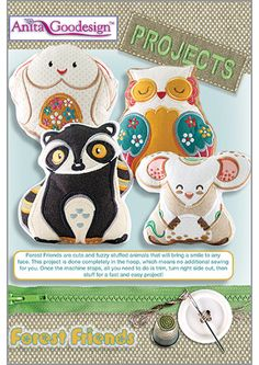 Forest Friends - Projects - Anita Goodesign - Available March 1st Through your local Authorized Anita Goodesign Dealer