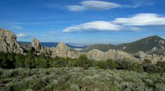 Sage, pinon pine, granite, & clouds -- Idaho's City of Rocks between Almo and Oakley