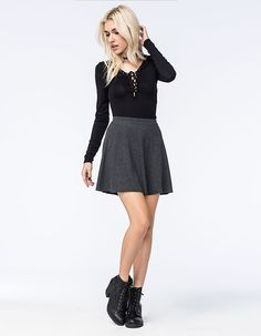 H.I.P. Sweater Rib Skater Skirt