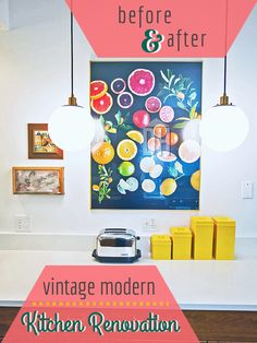 A Before-and-After Vintage Modern Kitchen Renovation >> http://blog.hgtv.com/design/2015/05/20/my-kitchen-renovation-is-finished-see-the-complete-room-tour/?soc=pinterest