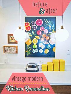 Before and after vintage modern kitchen renovation gt gt http blog