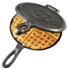 Solid Cast Iron Old Fashioned Waffle Iron: Amazon.co.uk: Kitchen & Home