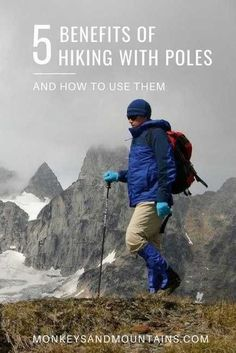 A full guide on the benefits of hiking with poles. Plus how to choose the perfect hiking poles for you, how to use them, and recommendations on which trekking poles to buy. via hiking quotes, hiking with kids, best hiking trails Camping Guide, Backpacking Tips, Hiking Tips, Camping And Hiking, Hiking Gear, Hiking Backpack, Camping Hacks, Trekking Gear, Kayak Camping