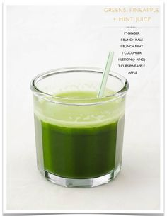 Greens, Pineapple, & Mint Juice