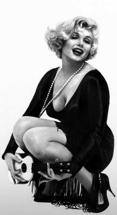 Marilyn Monroe Back in black - Some Like It Hot (Wilder, 1959)
