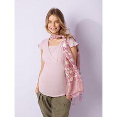 T-shirt allaitement en coton stretch