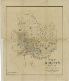 City of Austin, Texas map from 1885