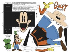 Goofy foldable papercraft