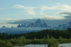 First view of the Grand Tetons as we drove into Jackson Hole WY.