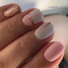 ▷ Uñas de Gel Decoradas | Cuidado y las Mejores Herramientas de 2020 Cute Acrylic Nails, Acrylic Nail Designs, Gel Nail Polish Designs, Gel Polish, Nail Color Designs, Accent Nail Designs, Essie Pink Nail Polish, Pink Gel Nails, Glitter Accent Nails