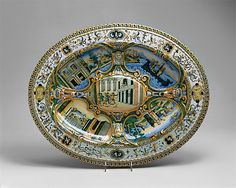 Dish (one of a pair)  Fontana workshops   Date: ca. 1565–70 Culture: Italian (Urbino) Medium: Maiolica (tin-enameled earthenware)