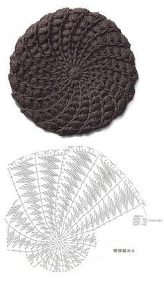 Gorro tejido a crochet - Patro