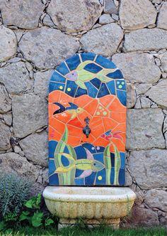 ceramic mosaic fountain