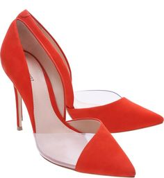 Scarpin Cut Red Orange