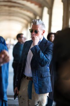 http://chicerman.com  1000yardstyle:  Nick Wooster one of my photos from Paris Fashion Week for British GQ  #streetstyleformen