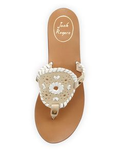 33502805c8f Jack Rogers Georgica Leather Thong Sandals