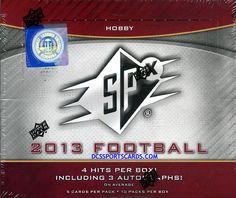 2013 Upper Deck SPX Football Cards Hobby Box - $109.95