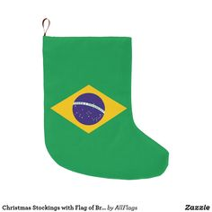 Christmas Stockings, Christmas Cards, Brazil Flag, Cherish Quotes, All Flags, Holiday Gifts, Holiday Decor, Personalized Stockings, Xmas Holidays