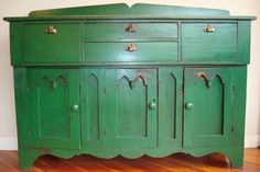 1860s armoire. Love the green