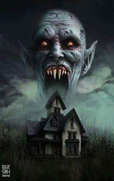 Horror Movie Art : Salem's Lot by Peter Stan 1975 Horror Movie Characters, Best Horror Movies, Classic Horror Movies, Horror Films, Scary Movies, Old Movies, Arte Horror, Horror Art, Zombies