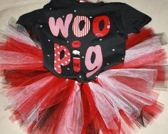 Woo Pig Sooie Arkansas Razorback's tutu and shirt