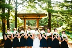 lizzy and denver // bridal party // navy bridesmaids dresses // white bouquet // wedding bouquet // st. louis wedding // siue wedding // siue gardens // st. louis wedding photography // courtney smith photography