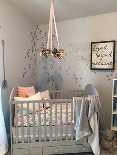 Nursery Floral Wreath Mobile - such a perfect finishing touch over the crib! Liapela.com