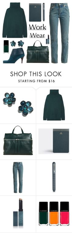 """Work Wear/60 Second Style"" by rasa-j ❤ liked on Polyvore featuring Marguerite de Valois, Prada, Kara, Postalco, Balenciaga, Giuliano Mazzuoli, Surratt, Illamasqua, WorkWear and 60secondstyle"