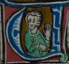 Detail from medieval manuscript, British Library Stowe MS 17 'The Maastricht Hours' f19r