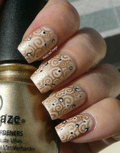 Piola's nail lounge: Giardino d'inverno # 5 - Klimt inspired nail art