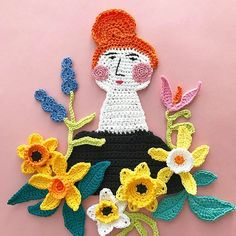 #April #mymonth #spring #springflowers #narcissus #hook #sketching #crochet #crocheting #freeformcrochet #crocheterofinstagram #huhtikuu #virkkaus