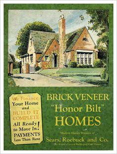 Sears Brick Veneer Homes - 1929