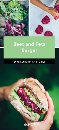 Beet and Feta Burger