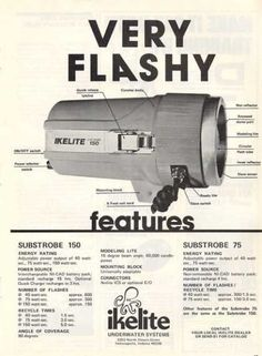 Ikelite Flashlight Ad, Dive History