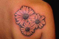 White Sunflower Tattoos On Right Back Shoulder Sunflower Tattoo Shoulder, Sunflower Tattoos, Shoulder Tattoo, Back Shoulder, Back Tattoo, Piercings, White Sunflower, Artist, Free