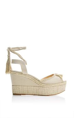 Patmos Platform Wedge Sandals by Paul Andrew Now Available on Moda Operandi