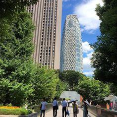 今日からお天気は少しだけ安定してきた模様少し暑いけどコクーンタワーを見ながら歩いて気晴らし#cocoontower #shinjuku #tokyo