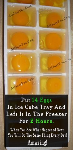 SHE PUT EXACTLY 14 EGGS IN ICE CUBE TRAY AND LEFT IT IN THE FREEZER FOR 2 HOURS. WHEN SHE SAW WHAT HAPPENED NEXT SHE DECIDED TO DO THE SAME THING EVERY DAY! AMAZING! Natural Medicine, Herbal Medicine, Medicine Book, Ice Cube Trays, Ice Cubes, Natural Healing, Holistic Healing, Organic Recipes, Ayurveda
