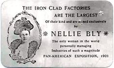 Nellie Bly's Aluminum Business Card, handed out at the Pan American Exposition Buffalo 1901 Women In History, Family History, Nellie Bly, Factories, Buffalo, Objects, Husband, Museum, Iron